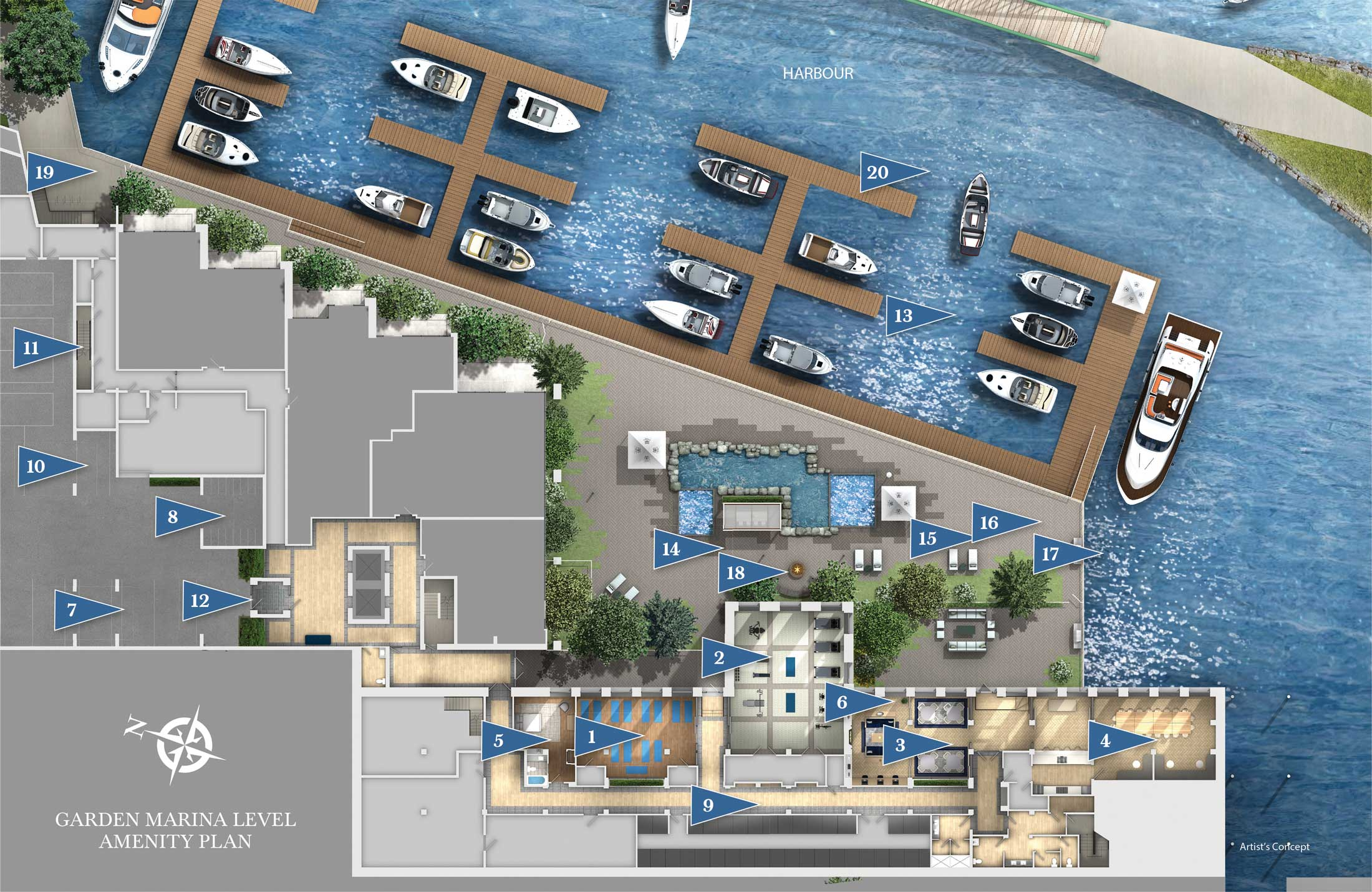 Garden Marina Level Amenities